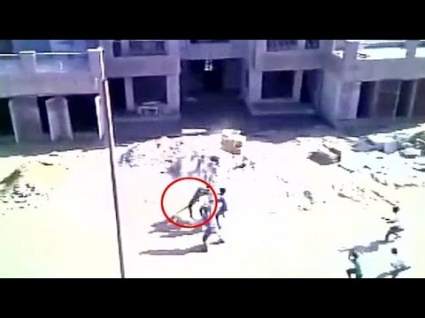 On cam: Leopard attacks outside Army Hospital in Meerut