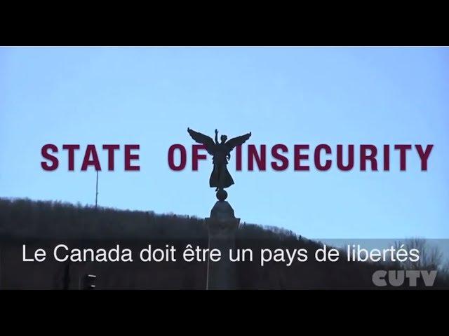tat de l'inscurit Represion politique au Canada