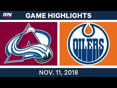 NHL Highlights | Avalanche vs. Oilers – Nov. 11, 2018