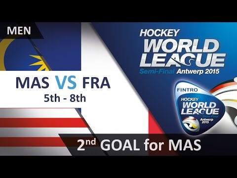 Malaysia take the lead with a brilliant back post deflection MAS 2-1 FRA