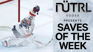 NHL Saves Of The Week Bobrovsky Flashes Leather, Ullmark Insane Recovery