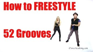 "How to Freestyle Dance-""Kick Groove"" 52 Grooves (move 3 of 52) @ClubDanceKing"