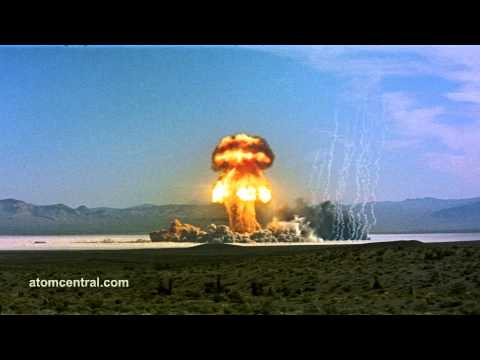 Wide shot of Atomic Bomb detonation Music Videos