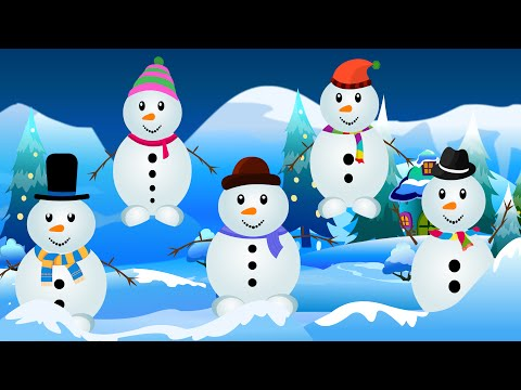 Five little Snowmen | Snowman Cartoon Videos For Babies | Kids Tv Nursery Rhymes For Toddlers