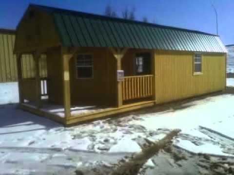 ... Cabin - Derksen Buildings dba Amarillo Portable Buildings - YouTube