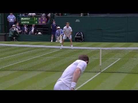 Wimbledon 2014 [HD] Andy Murray vs. David Goffin 1R Final Game