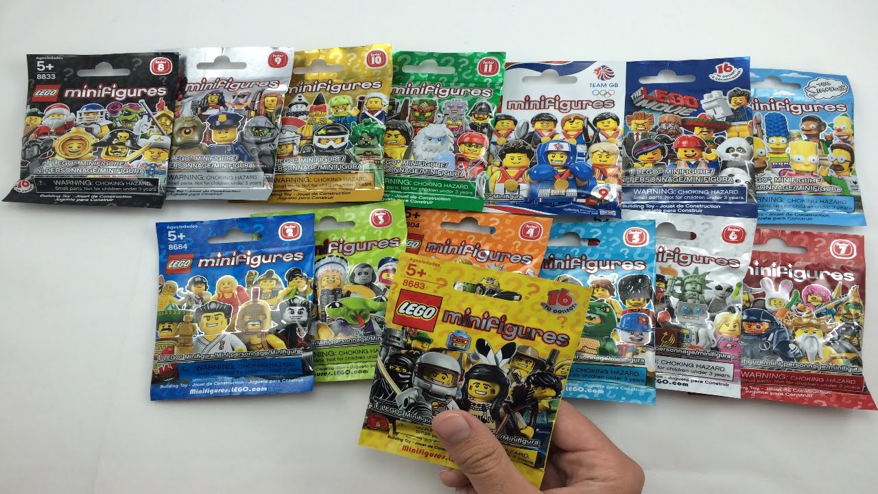 Lego minifigures opening all 14 lego minifigures series youtube