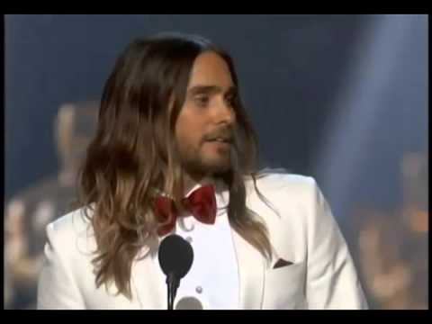 Jared Leto WINS Best Supporting Actor Oscars Academy
