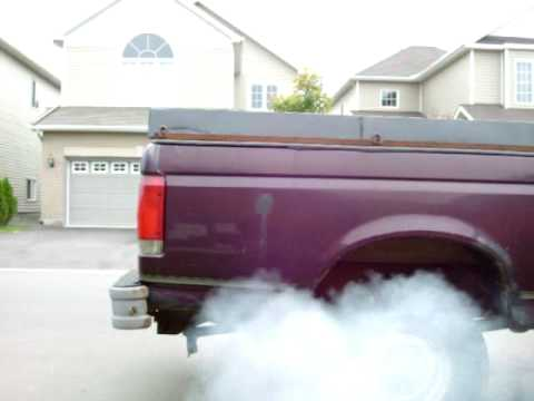 Smokey Cold Start 1990 Ford F250 7.3 IDI Diesel
