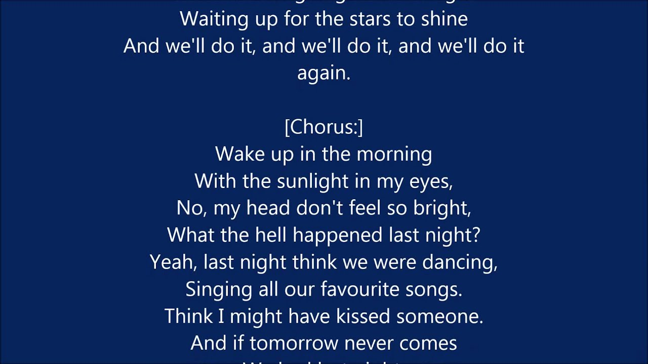 Letra e música de Last Friday Night TGIF de Katy Perry  Pictures of last night Ended up online Im screwed Oh well