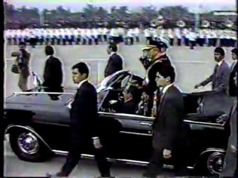 Presidente Pinochet- Llegada a Parada Militar 1989 Chile/Honores al Presidente