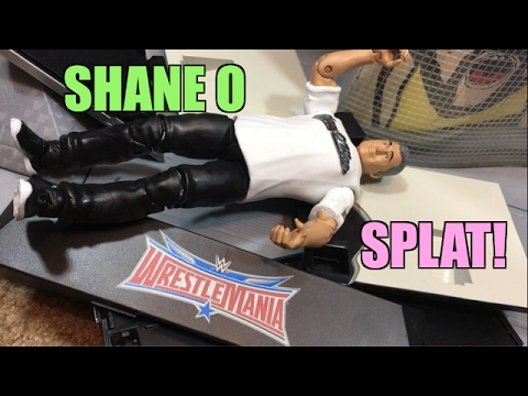 WWE ELITE 50 SHANE MCMAHON FIGURE WITH TABLE WRESTLING FIGURE REVIEW!