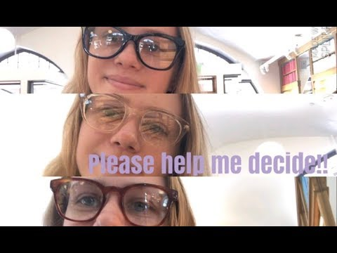 help me pick my new glasses || warby parker