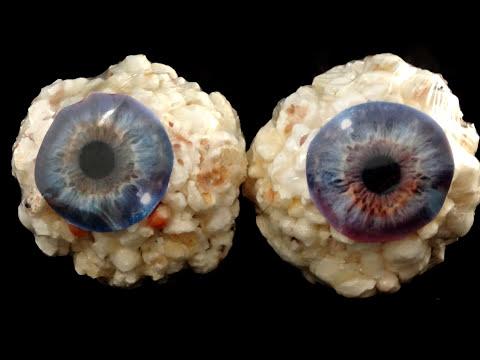 Popcorn Ball Eyeballs for Halloween-with yoyomax12