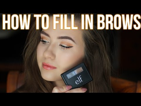 How To Fill in Your Eyebrows | ELF Eyebrow Kit | Easy for Beginners