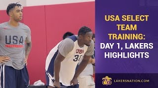 USA Select Team Training: Day 1, Lakers Highlights (Ingram, Randle, Russell)