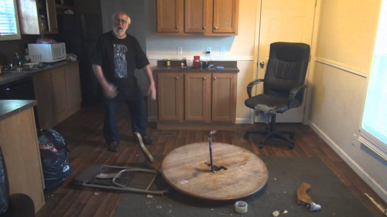 Angry Grandpa Destroys Kitchen Table Youtube