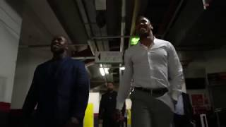 All access-Backstage with Anthony Joshua.