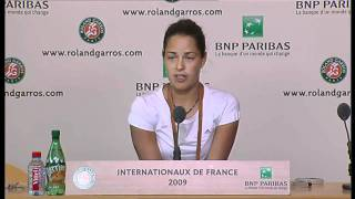 Ana Ivanovic Press Conference Roland Garros