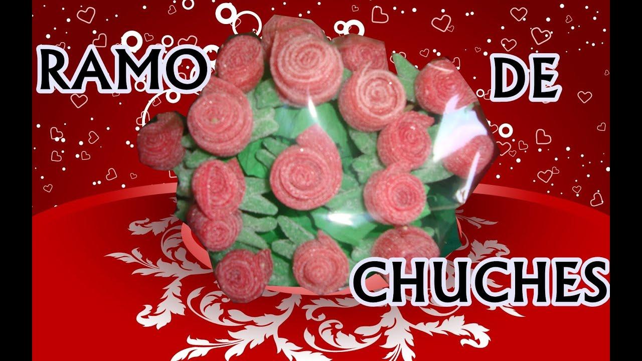 Ideas de regalos rosa de gominola youtube - Como hacer figuras con chuches ...