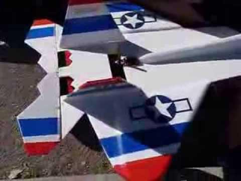Foam board F22 Thunderbird RC Jet Homebuilt