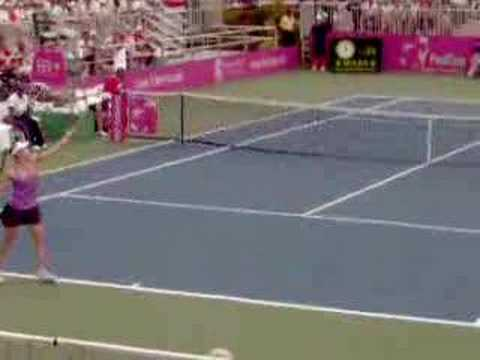 Anna Chakvetadze vs. Vania King - 2007 Fed Cup Semifinals Video