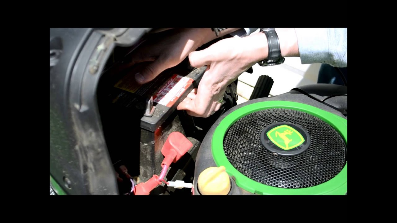 john deere lawn tractor battery change  a guide