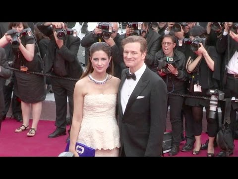 Colin Firth and his wife Livia on the red carpet of Loving at the Cannes Film Festival 2016