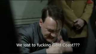 Hitler finds out that Carlton lost to Gold Coast