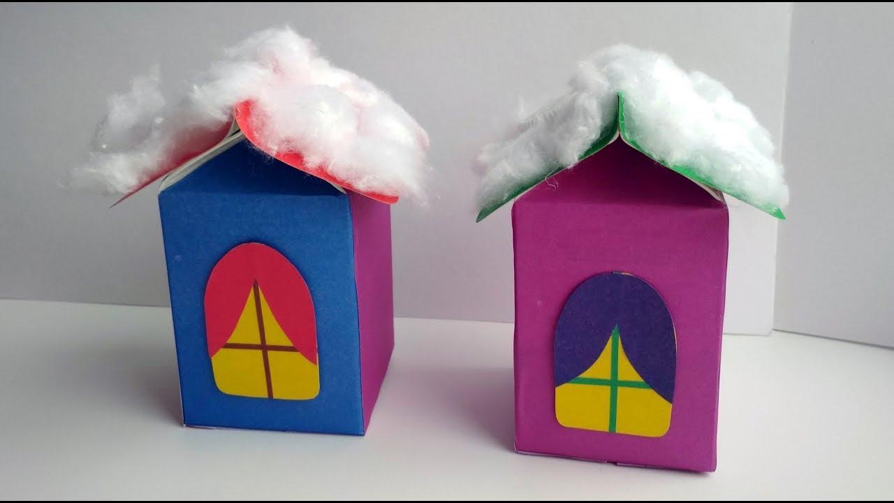 Как сделать домик из цветной бумаги своими руками 644