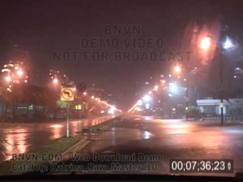 8/29/2005 Hurricane Katrina Video From New Orleans, LA - Pre Dawn - Katrina Raw Master 10
