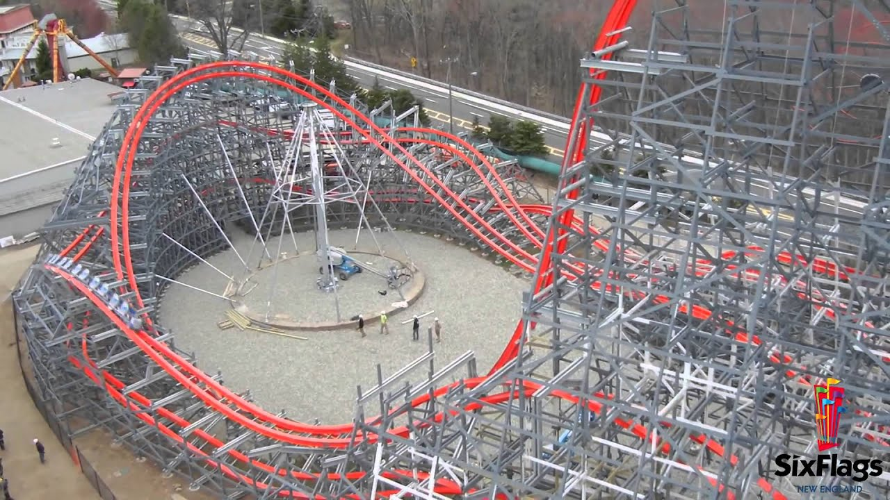 Roller Coaster Rides at Six Flags Six Flags New England Off-ride