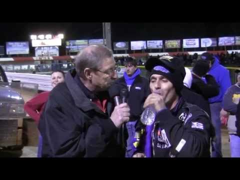 Lincoln Speedway 410 Sprint Car Victory Lane 04-04-15