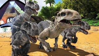Adotando um Indominus Rex, Família Indoraptor + Filhotes | ARK Play As Dino (#30) | (PT/BR)