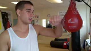 Bfree's Chris tutorial on Speed Ball (Bag) boxing punch training