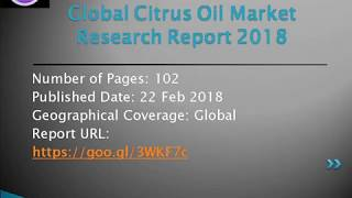 Citrus Oil Market Trends by Solutions, Services and By End-users & Regions