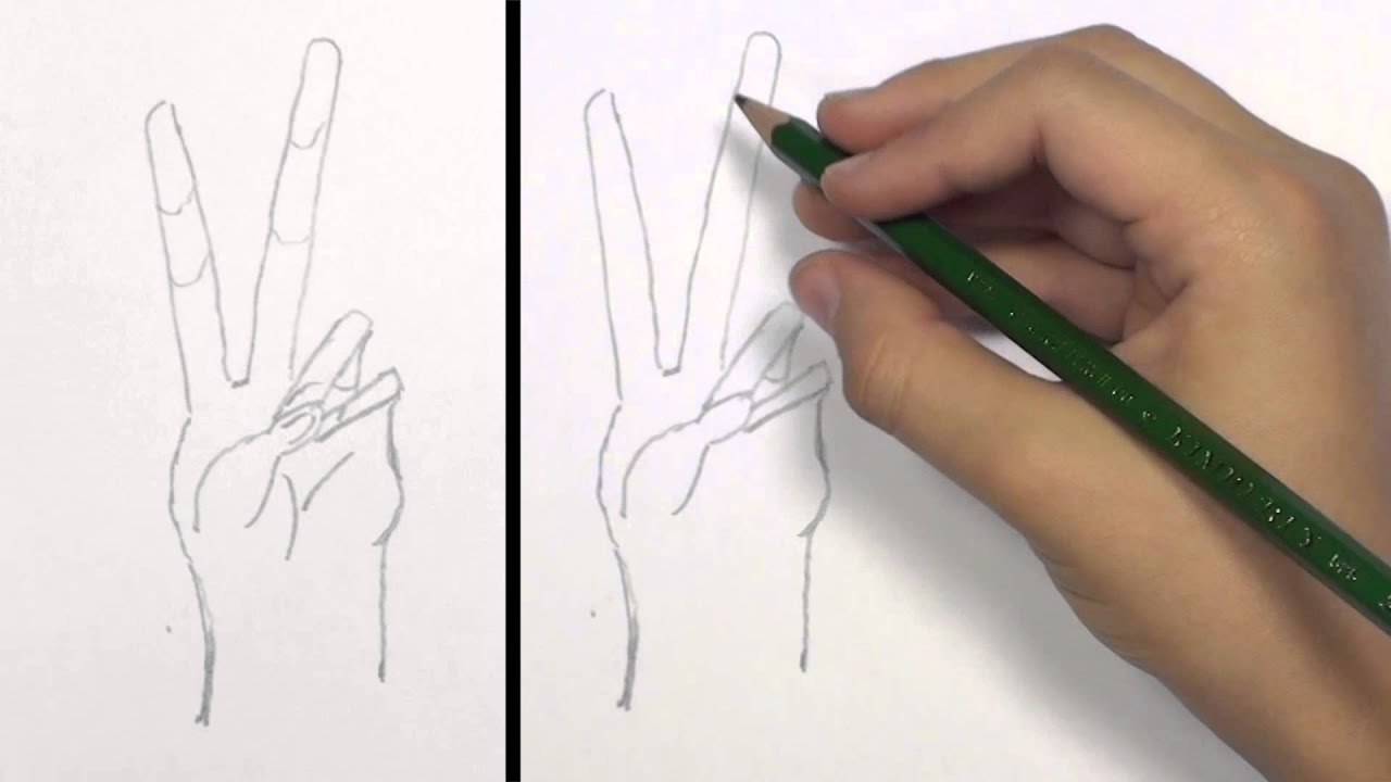 Peace Hands Drawing How to Draw a Peace Hand Sign