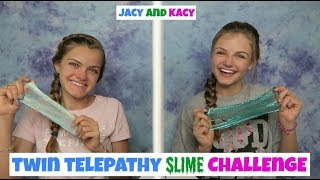 Twin Telepathy Slime Challenge ~ Jacy and Kacy
