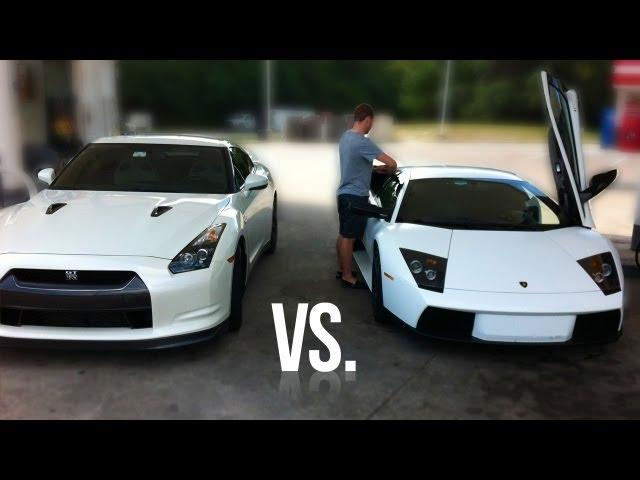 Lamborghini Murcielago vs. Nissan GT-R Street Race - YouTube