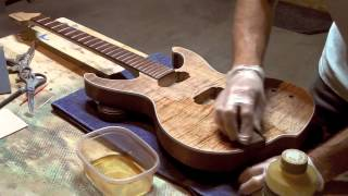 Applying Pure Tung Oil To A Guitar