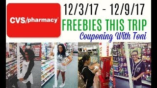 CVS Couponing Haul 12/3/17 - 12/9/17 | Couponing With Toni