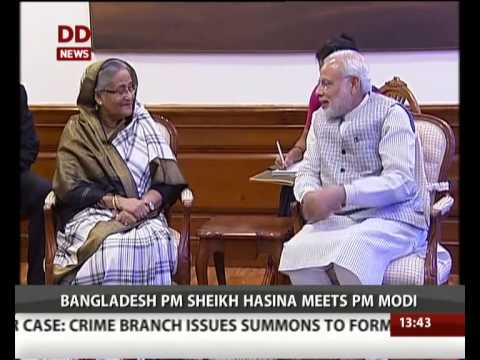 Bangladesh PM Sheikh Hasina meets PM Modi