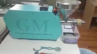 Ev tipi soguk pres yag makinasi corek otu cekimi home type cold press machine GM500 Soğuk Pres Yağ Makinesi videosu