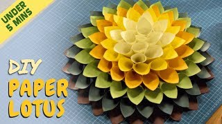 The Art Room - DIY Paper Lotus Under 5 Minute   Easy Paper Crafts   Quick Crafts For Kids