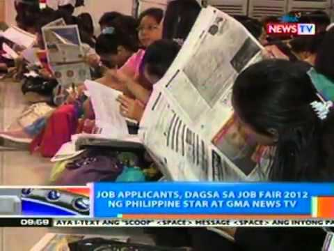 NTG Job applicants, dagsa sa Job Fair 2012 ng Philippine St