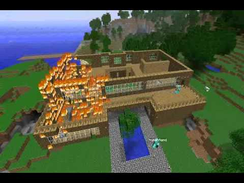 how to make a fire house in minecraft
