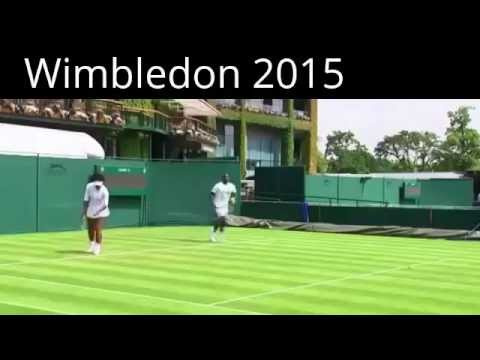 Ana Ivanovic and Serena Williams Practice For Wimbledon 2015