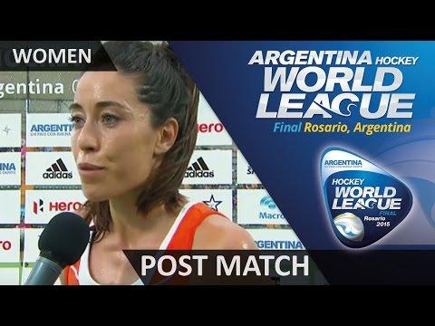 Post Match Interview Naomi Van As #HWL2015 #Rosario