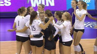 No. 10 Washington women's volleyball holds on to defeat Arizona in four sets