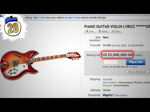 20 Most Expensive Things Ever Sold on the Internet (and RL)